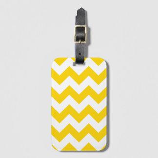 Yellow Chevron Zigzag Baggage Labels Luggage Tag