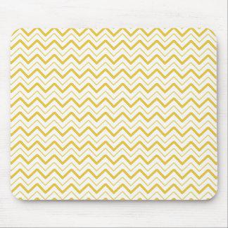 Yellow chevron zigzag stripes zig zag pattern mouse pad