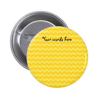 Yellow chevrons 6 cm round badge