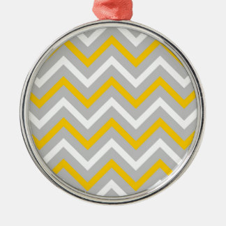 Yellow Chevrons Christmas Ornament