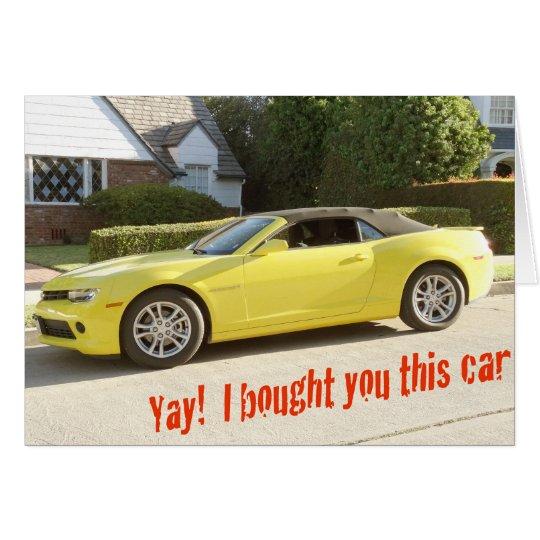 Yellow CHEVY Camaro CAR Card