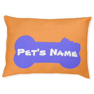 Yellow Chewed Bone Personalized Large Dog Bed 4