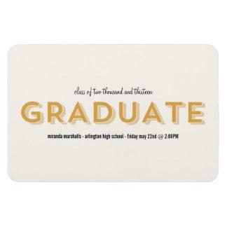 Yellow Chic Graduation Magnet