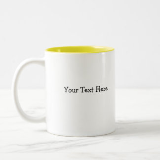 Yellow Chick, Your Text Here Two-Tone Mug