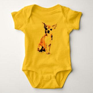 Yellow Chihuahua Cute Baby Bodysuit