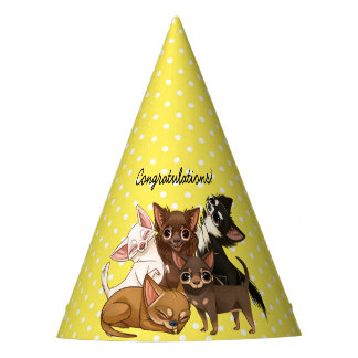 Yellow Chihuahua Party Hat