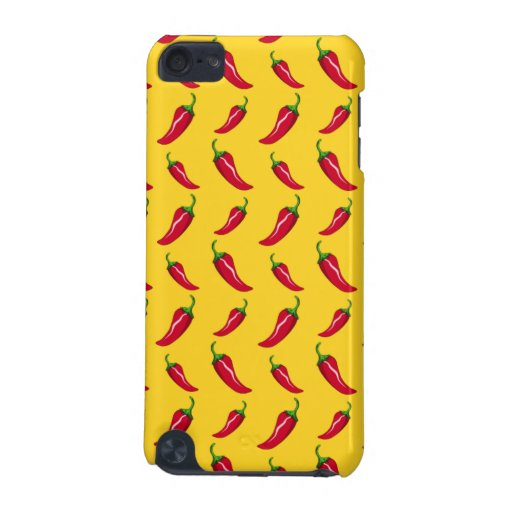 Yellow chili peppers pattern iPod touch 5G covers