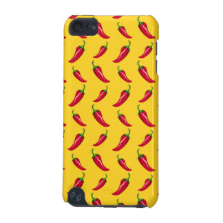 Yellow chili peppers pattern iPod touch (5th generation) cases