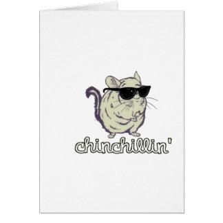 Yellow Chinchillin Chinchilla Greeting Card