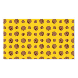 Yellow chocolate chip cookies pattern business card