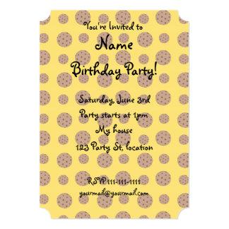 Yellow chocolate chip cookies pattern 13 cm x 18 cm invitation card
