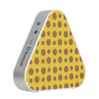 Yellow chocolate chip cookies pattern speaker