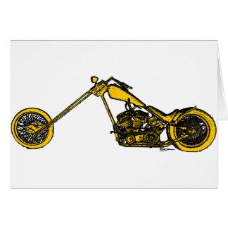 Yellow Chopper Style Card