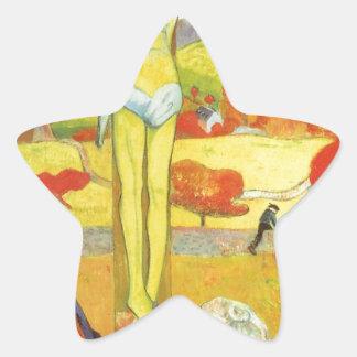 Yellow Christ by Paul Gauguin Star Sticker