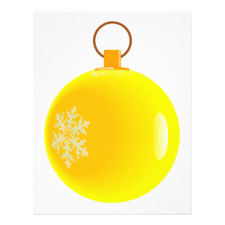 Yellow Christmas Bauble Flyer. 21.5 Cm X 28 Cm Flyer
