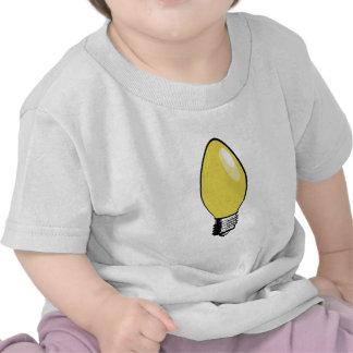 Yellow Christmas Tree Light Tshirt