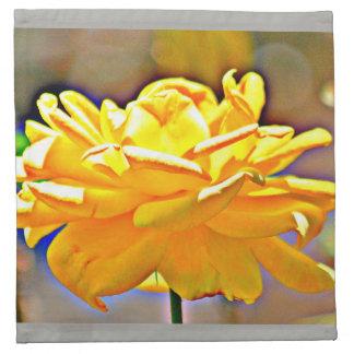 Yellow Chromatic Rose Custom Cloth Napkins