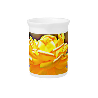 Yellow Chromatic Rose Custom Water Pitcher