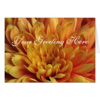 Yellow Chrysanthemum Card