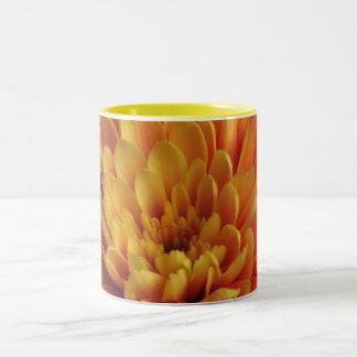Yellow Chrysanthemum Two-Tone Coffee Mug