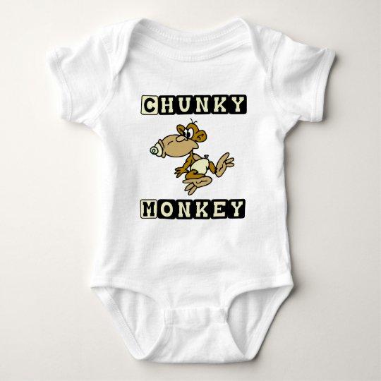 Yellow Chunky Monkey Cute Baby One-Piece Baby Bodysuit