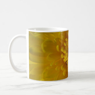 Yellow Chysanthemum Flower White Mug Cup