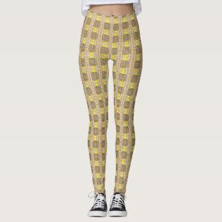 Yellow Circle Multi-Print Leggings