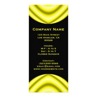 yellow circle rack card