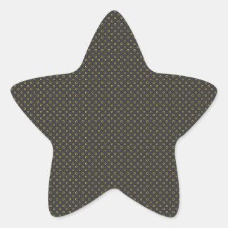 Yellow circles pattern star sticker
