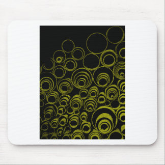 Yellow circles, rolls, ovals abstraction pattern mouse mat