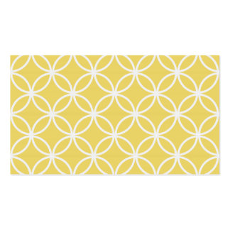 Yellow Circular Pattern Pack Of Standard Business Cards