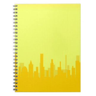 Yellow Cityscape Note Books