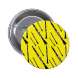 Yellow Clarinet Pattern Buttons