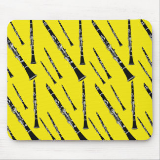 Yellow Clarinet Pattern Mouse Mat