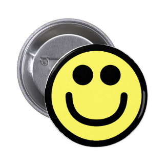 Yellow Classic Smiley Face 6 Cm Round Badge