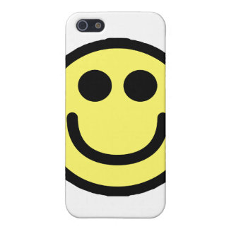 Yellow Classic Smiley Face iPhone 5/5S Cases
