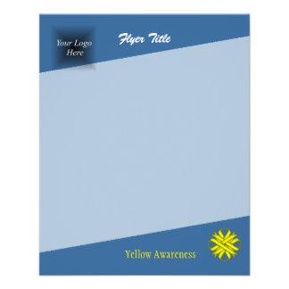 Yellow Clover Ribbon 11.5 Cm X 14 Cm Flyer