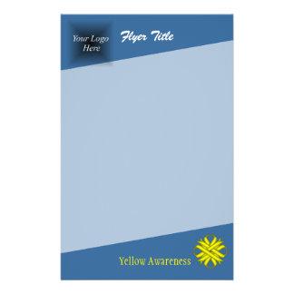 Yellow Clover Ribbon 14 Cm X 21.5 Cm Flyer
