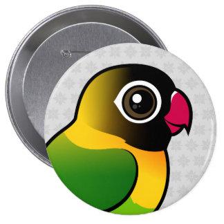 Yellow-collared Lovebird 10 Cm Round Badge