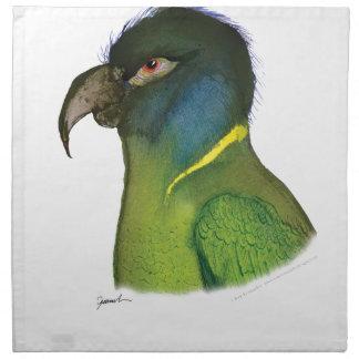 yellow collared macaw, tony fernandes napkin