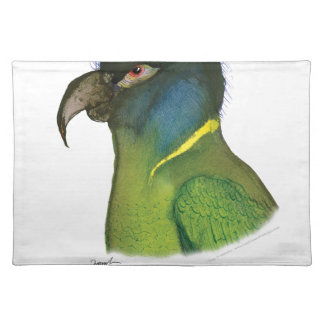 yellow collared macaw, tony fernandes placemat