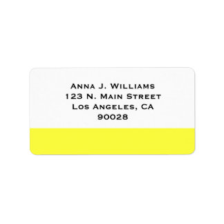 yellow color address label