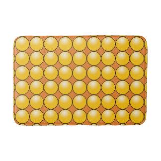 Yellow Color Ball Brown Medium Bath Mat