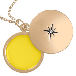 Yellow Color Round Gold Finish Pendants