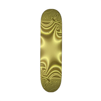 Yellow colored cross skate board decks