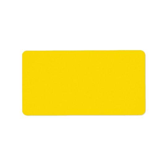 Yellow Colour Address Label
