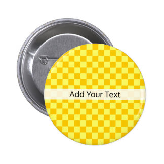 Yellow Combination  Checkerboard by ShirleyTaylor 6 Cm Round Badge