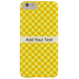 Yellow Combination  Checkerboard by ShirleyTaylor Barely There iPhone 6 Plus Case