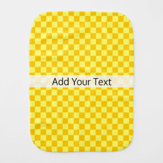 Yellow Combination  Checkerboard by ShirleyTaylor Burp Cloth