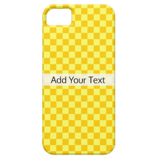 Yellow Combination Checkerboard by ShirleyTaylor iPhone 5 Cover